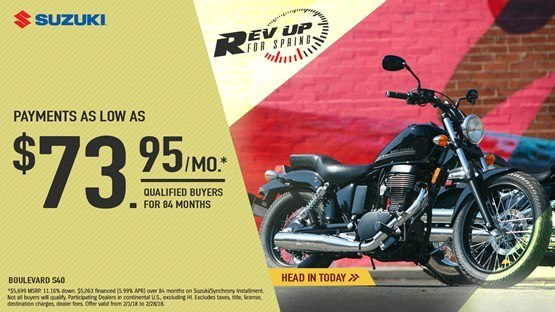 Suzuki - Rev Up for Spring for Cruiser and Touring